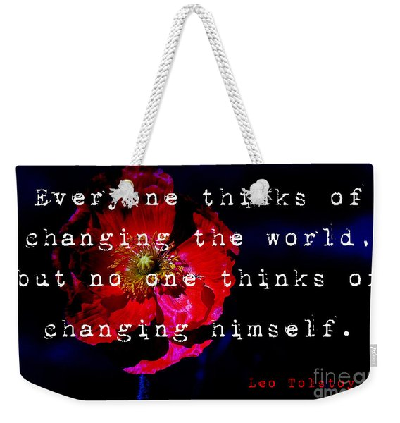 Changing The World Weekender Tote Bag