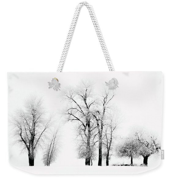 Frosted Trees 2 Weekender Tote Bag
