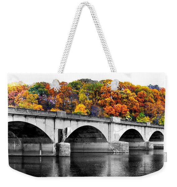 Colorful Bridge Weekender Tote Bag
