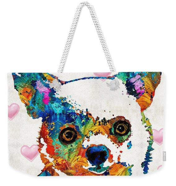 Colorful Chihuahua Art By Sharon Cummings Weekender Tote Bag