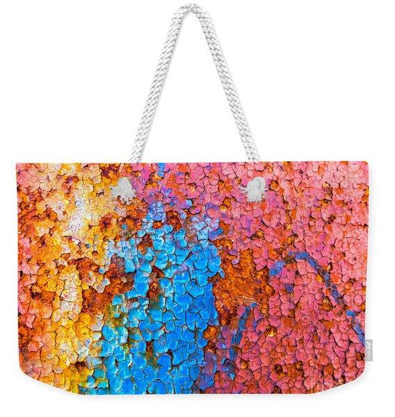 Colorful Cracks Weekender Tote Bag