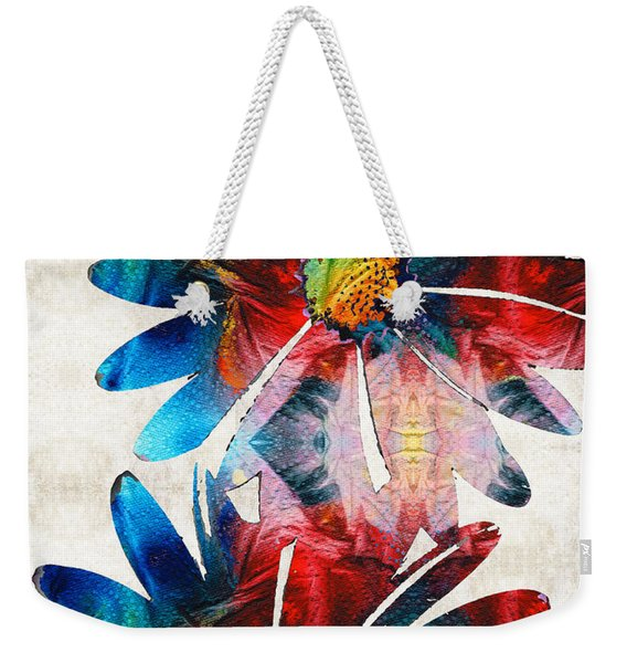 Colorful Daisy Art - Hip Daisies - By Sharon Cummings Weekender Tote Bag