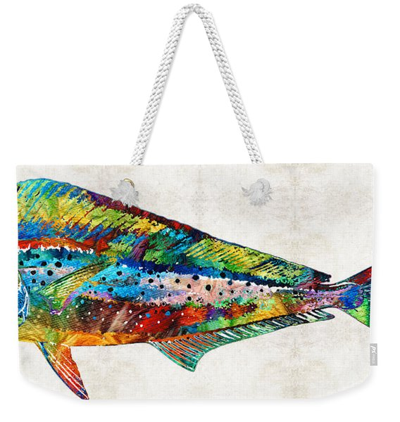 Colorful Dolphin Fish By Sharon Cummings Weekender Tote Bag