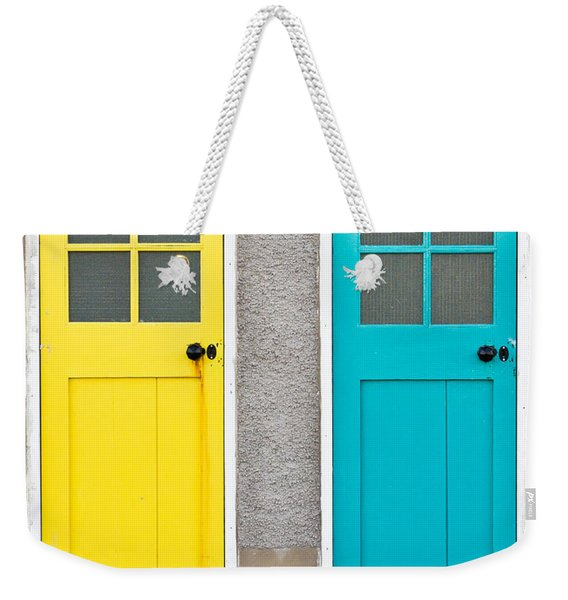 Colorful Doors Weekender Tote Bag