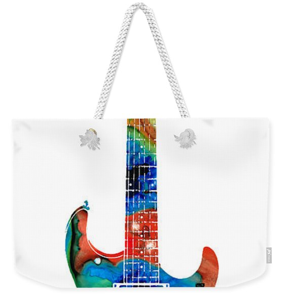Colorful Electric Guitar 2 - Abstract Art By Sharon Cummings Weekender Tote Bag