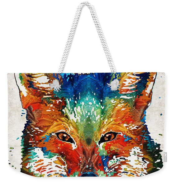 Colorful Fox Art - Foxi - By Sharon Cummings Weekender Tote Bag
