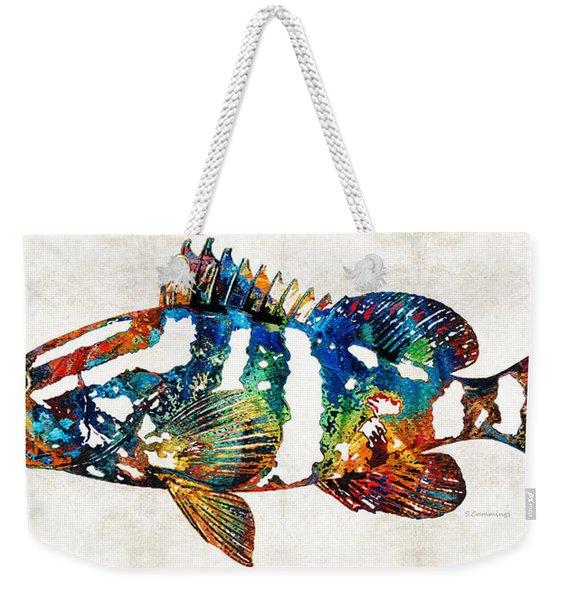Colorful Grouper 2 Art Fish By Sharon Cummings Weekender Tote Bag