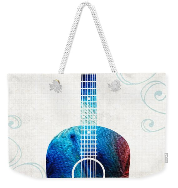 Colorful Guitar Art By Sharon Cummings Weekender Tote Bag