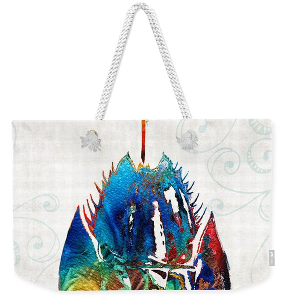 Colorful Horseshoe Crab Art By Sharon Cummings Weekender Tote Bag