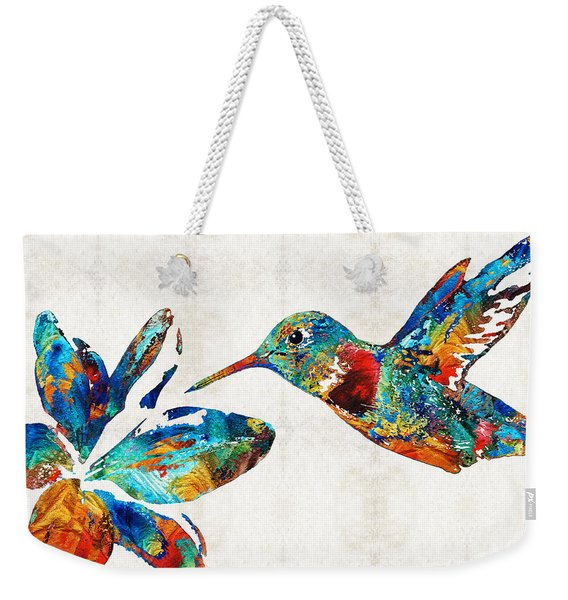Colorful Hummingbird Art By Sharon Cummings Weekender Tote Bag