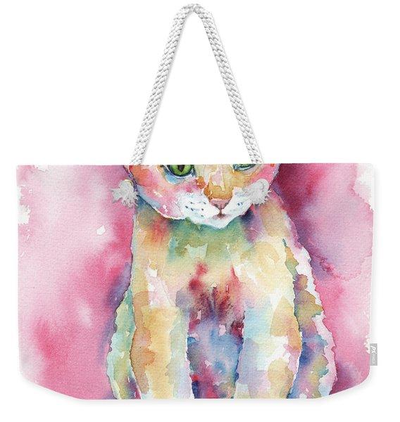 Colorful Kitten Weekender Tote Bag