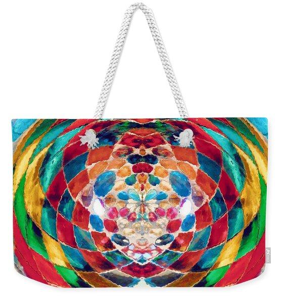 Colorful Mosaic Weekender Tote Bag