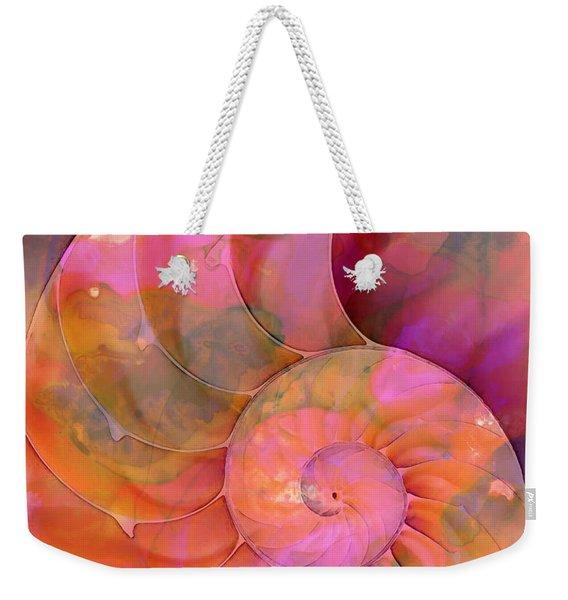 Colorful Nautilus Shell By Sharon Cummings Weekender Tote Bag