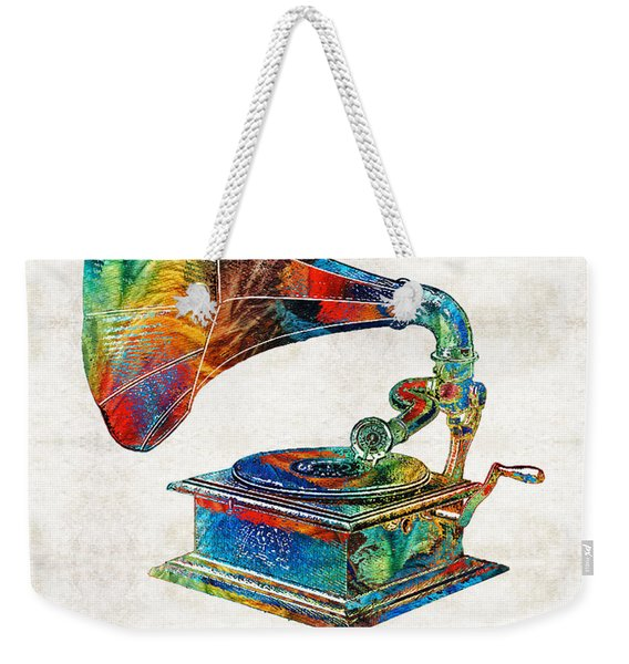 Colorful Phonograph Art By Sharon Cummings Weekender Tote Bag