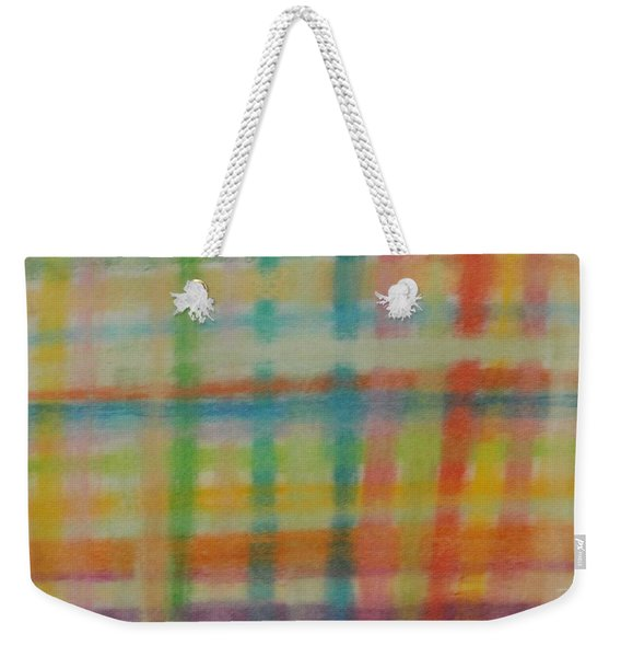 Colorful Plaid Weekender Tote Bag