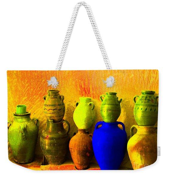 Colorful Pottery Weekender Tote Bag