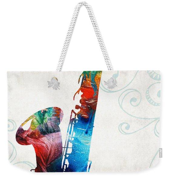 Colorful Saxophone 3 By Sharon Cummings Weekender Tote Bag