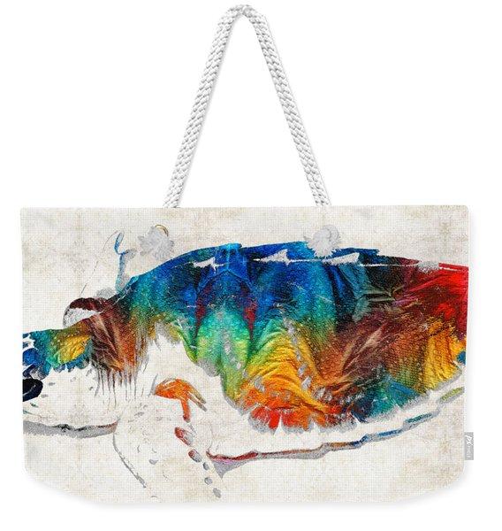 Colorful Sea Turtle By Sharon Cummings Weekender Tote Bag
