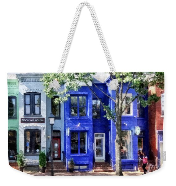 Alexandria Va - Colorful Street Weekender Tote Bag