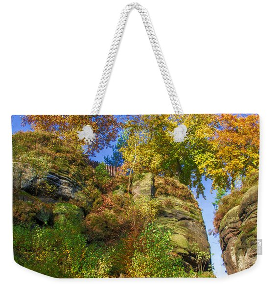 Colorful Trees In The Elbe Sandstone Mountains Weekender Tote Bag