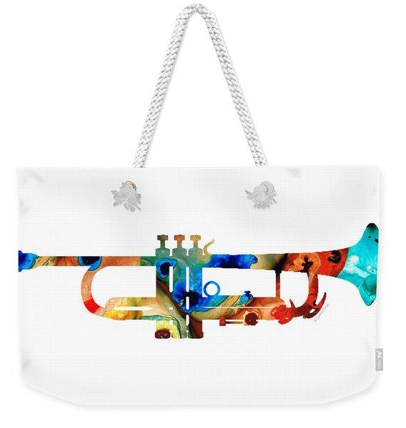 Colorful Trumpet Art By Sharon Cummings Weekender Tote Bag