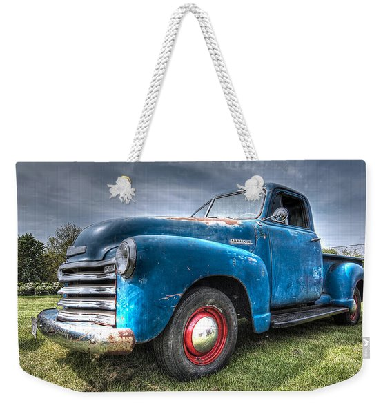 Colorful Workhorse - 1953 Chevy Truck Weekender Tote Bag
