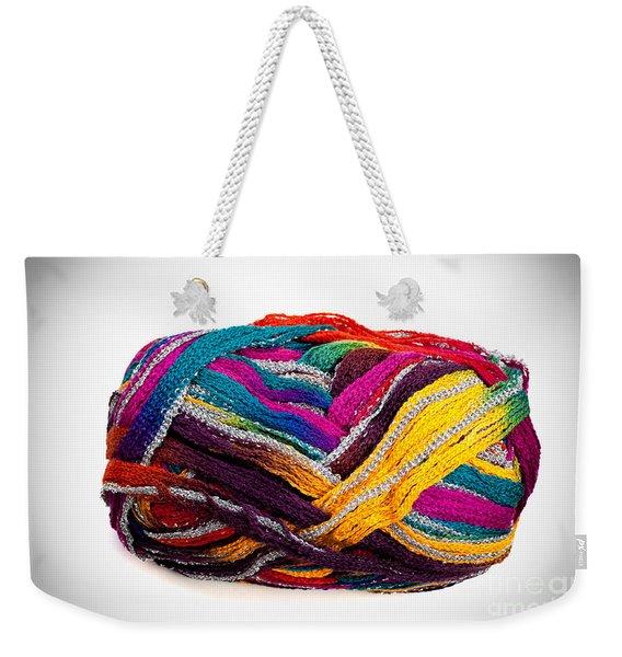Colorful Yarn Weekender Tote Bag