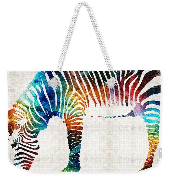 Colorful Zebra Art By Sharon Cummings Weekender Tote Bag
