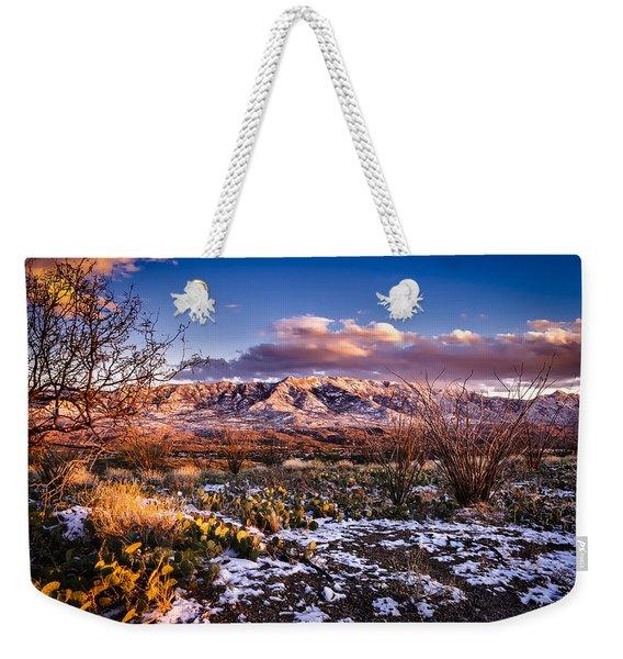 Colors Of Winter Weekender Tote Bag