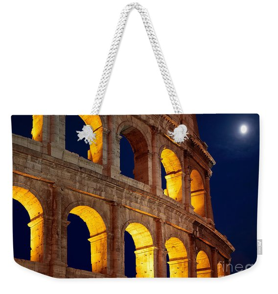 Colosseum And Moon Weekender Tote Bag