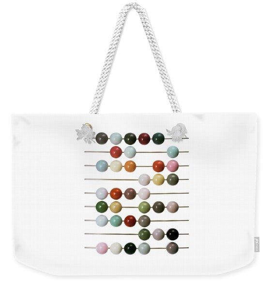 Colourful Beads On Metal Rods Weekender Tote Bag