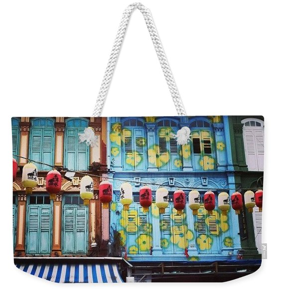 Colourful Singapore Weekender Tote Bag
