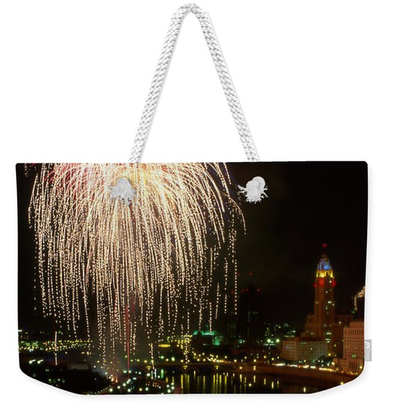 Columbus Red White And Boom Weekender Tote Bag
