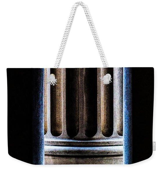 Column Number Nine  Weekender Tote Bag
