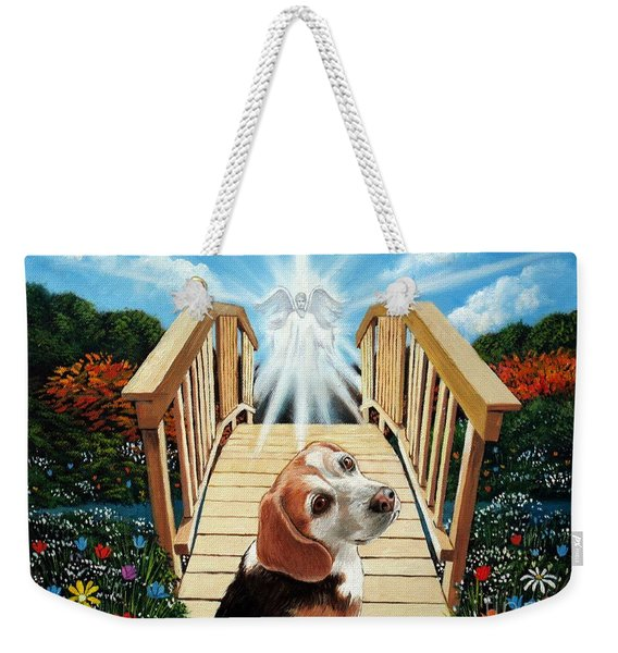 Come Walk With Me Over The Rainbow Bridge Weekender Tote Bag