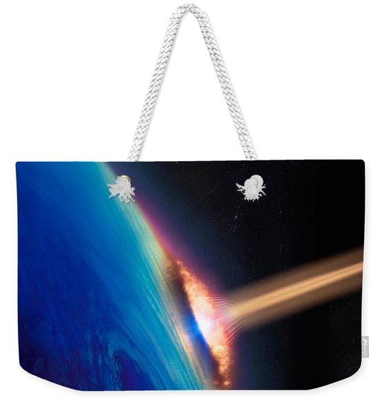 Comet Crashing Into Earth Weekender Tote Bag