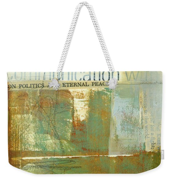 Communication With Weekender Tote Bag