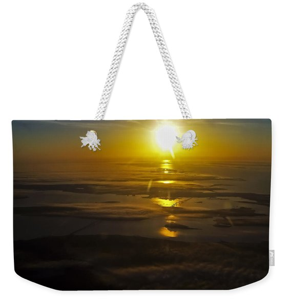 Conanicut Island And Narragansett Bay Sunrise II Weekender Tote Bag