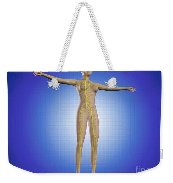 Conceptual Image Of Female Nervous Weekender Tote Bag