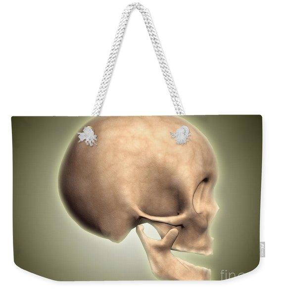 Conceptual Image Of Human Skull, Side Weekender Tote Bag