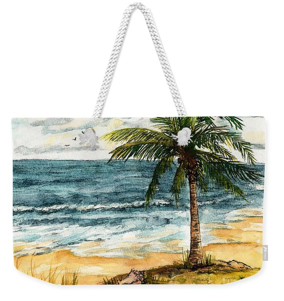 Conch Shell In The Shade Weekender Tote Bag