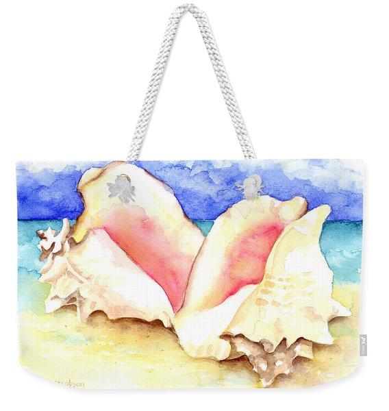 Conch Shells On Beach Weekender Tote Bag