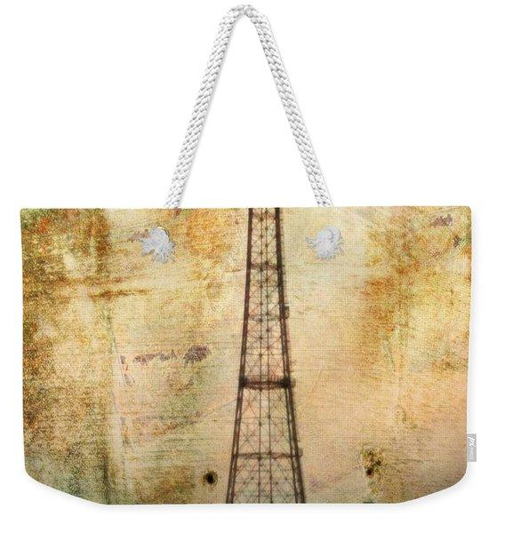 Coney Island Eiffel Tower Weekender Tote Bag