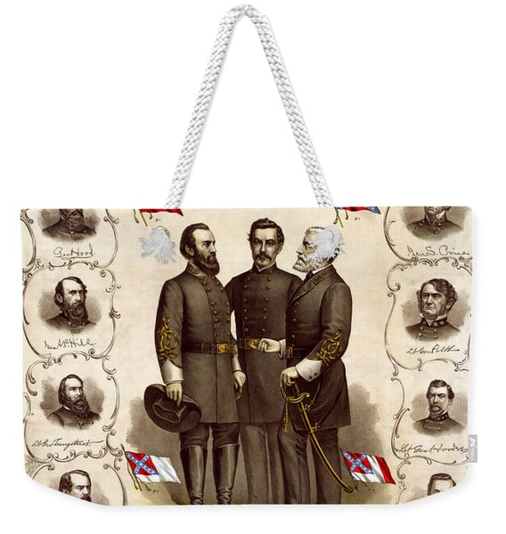 Confederate Generals And Flags Weekender Tote Bag