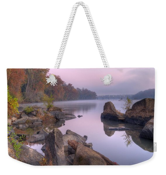 Congaree River At Dawn-1 Weekender Tote Bag