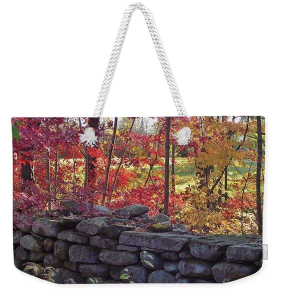Connecticut Stone Walls Weekender Tote Bag
