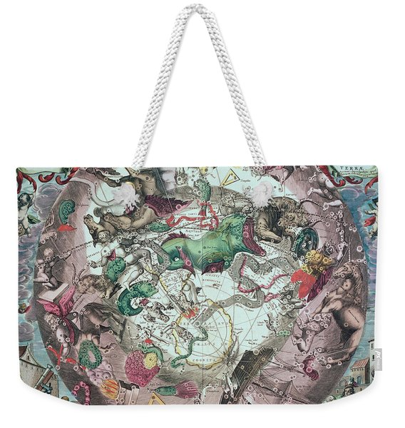 Constellations Of The Southern Hemisphere, From The Celestial Atlas, Or The Harmony Of The Universe Weekender Tote Bag