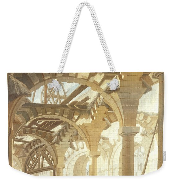 Construction Of A Wheat Market, 1765 Oil On Canvas Weekender Tote Bag