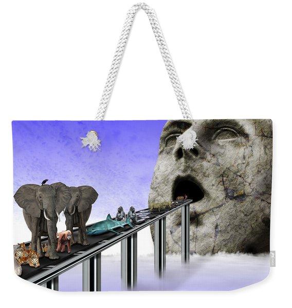 Consumerism Weekender Tote Bag