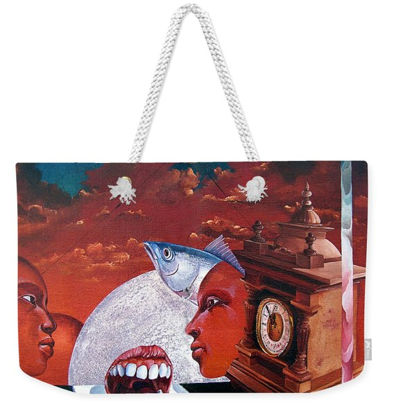 Consumption Of Time  Weekender Tote Bag